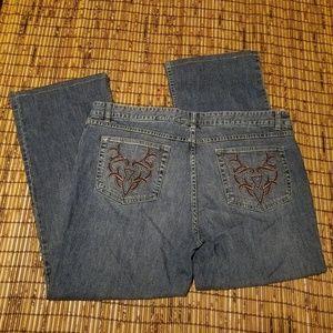 Harley-Davidson women's bootcut tribal biker jeans
